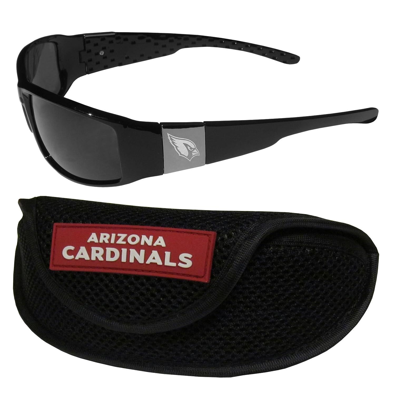 NFL Arizona Cardinals Chrome Wrap Sunglasses /& Sports Case