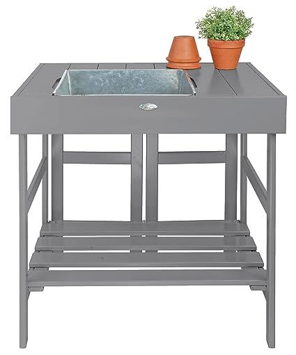 Esschert Design Potting Table, Gray