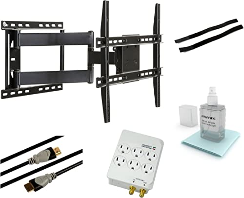 Atlantic 63635941 Articulating Wall Mount Kit for 37-Inch to 64-Inch Flat Panel TVs, Black
