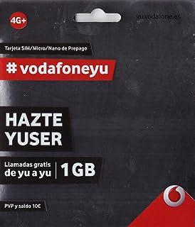 Vodafone 20 - Tarjeta SIM, 3.5 GB, 60 minutos y roaming ...