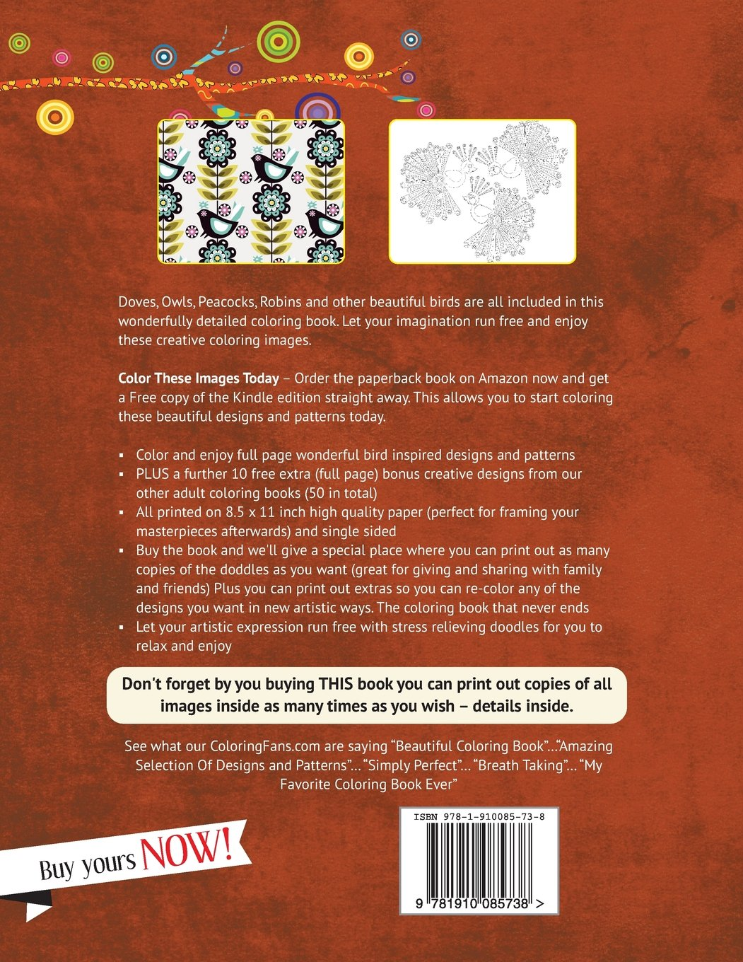 Amazon Owls Other Birds Coloring Book For Grown Ups On The Wings Of A Dove 9781910085738 Poppy Sure Books