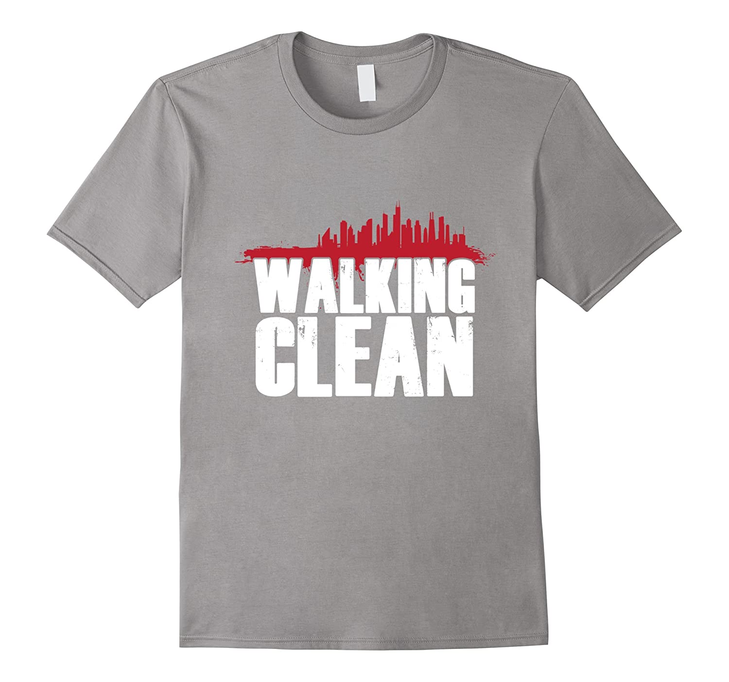 Walking Clean Chicago Celebrate Recovery T Shirt Rehab NA AA
