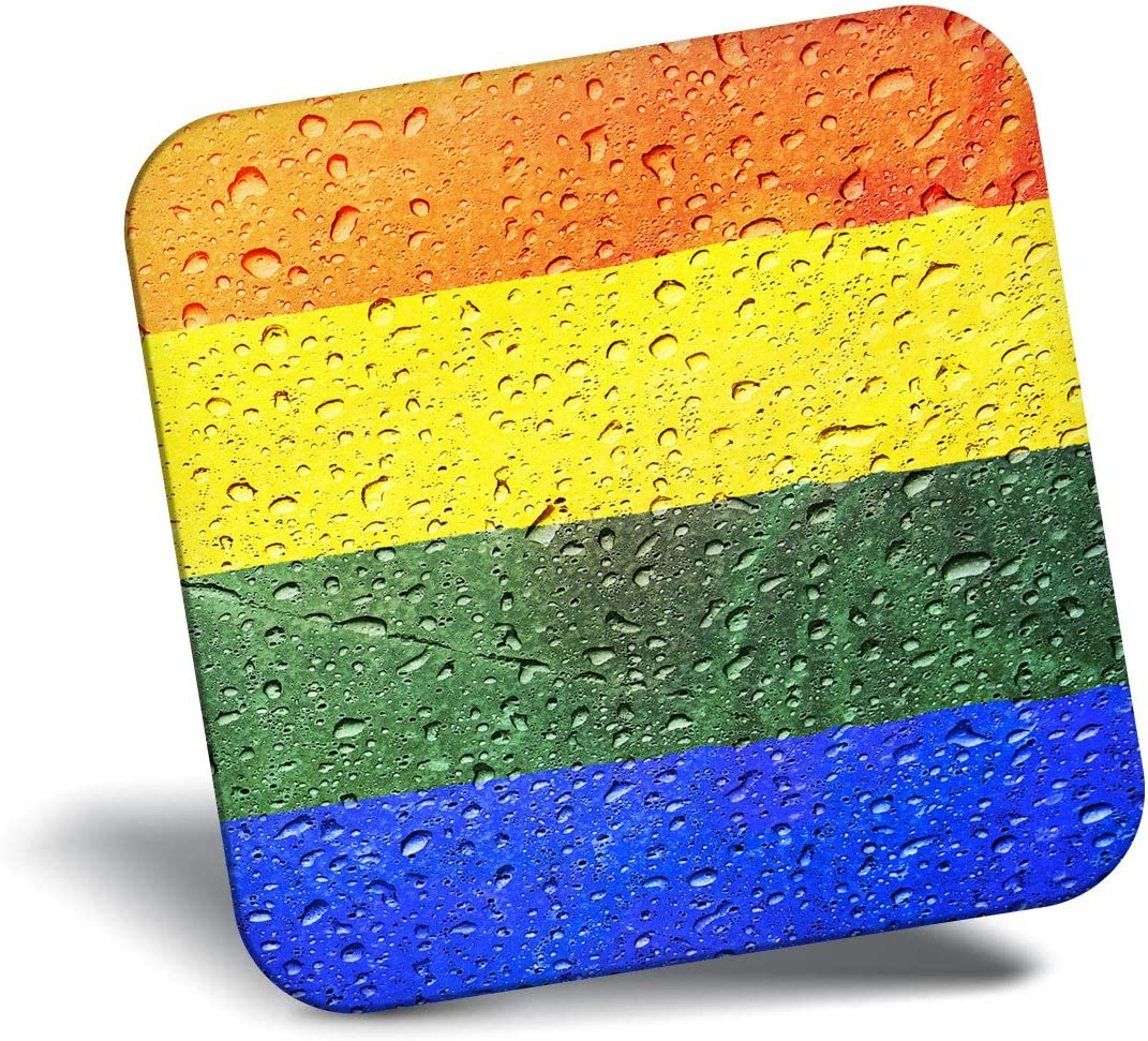 Destination Vinyl ltd Awesome Fridge Magnet - Water Droplet Gay Pride Flag 14527