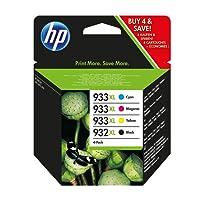 HP C2P42AE 932XL/933XL High Yield Original Ink Cartridges, Black/Cyan/Magenta/Yellow, Pack of 4