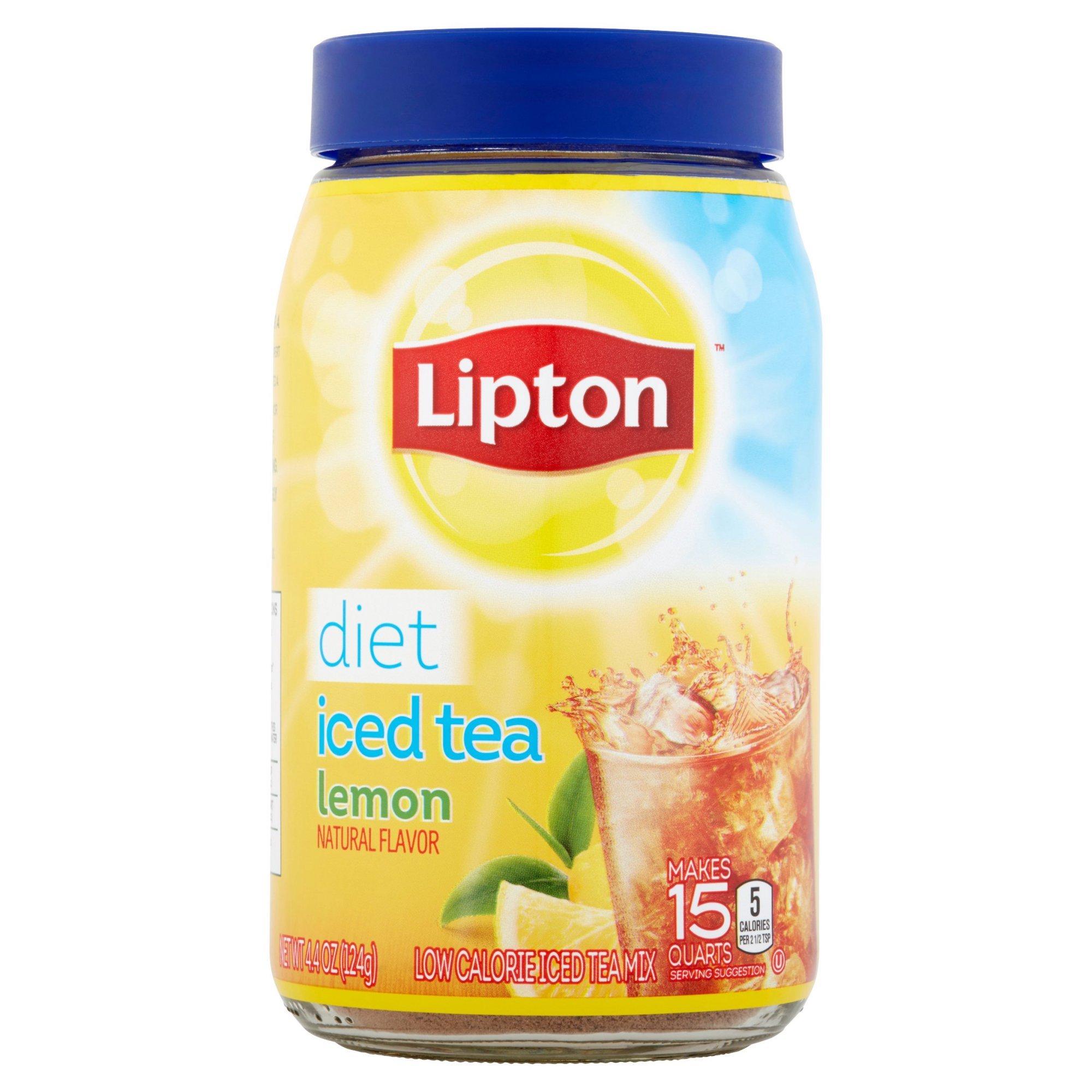 Lipton Iced Tea Mix Diet Lemon, 15 qt (Pack of 4)