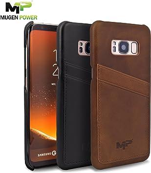 Samsung Galaxy S8 (Movistar, Vodafone,Yoigo,Orange Spain), Funda de Cuero, Mugen Power [Classic Series] Cuero auténtico Premium con Tarjeta de crédito/Ranuras de Tarjeta ID [Ultra Slim]: Amazon.es: Electrónica