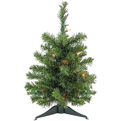 Amazon Com 18 Pre Lit Canadian Pine Artificial Christmas Tree