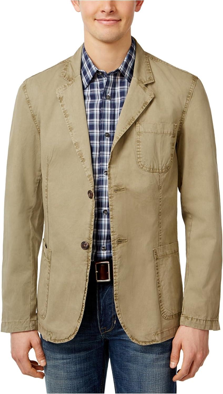 Weatherproof Mens Twill Two Button Blazer Jacket