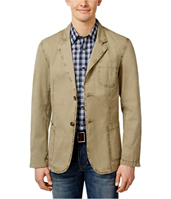 e965983e747 Weatherproof Vintage Men s Over Dyed Patch Pocket Blazer (Taupe ...