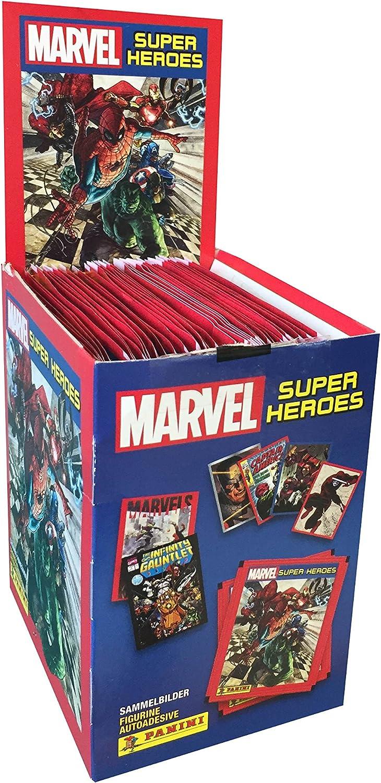 Panini- Caja con 50 cromos Marvel Súper Héroes (003311BOX50E ...