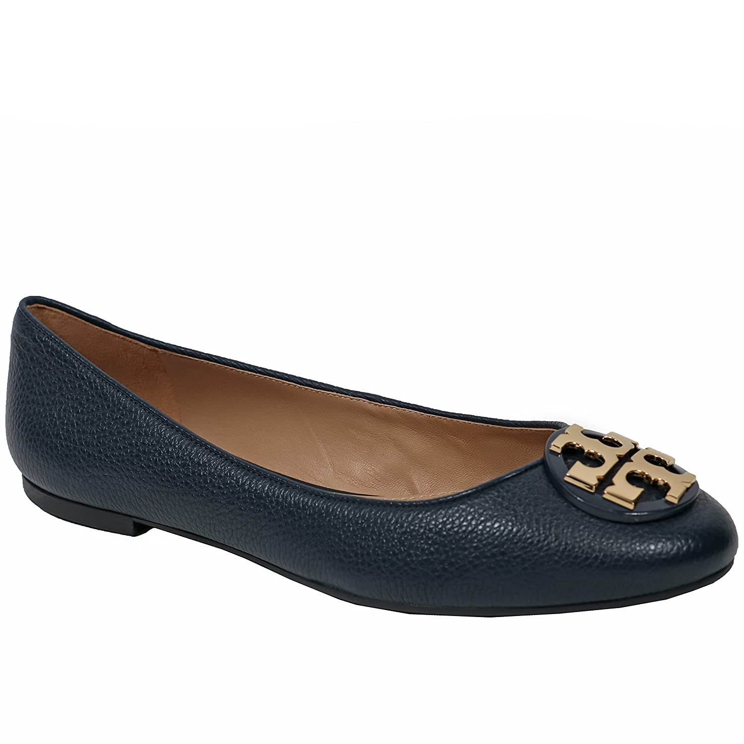 aa59f4c4a Tory Burch Women s Claire Ballet Flat Flat Flat Leather Shoes Bright Navy  B07DZJ5J82 10 M US