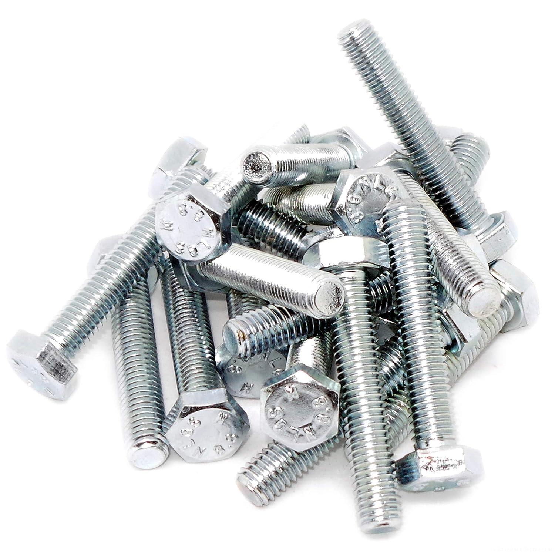 M8 (8 mm x 45 mm) con bullone esagonale (completamente filettato vite) –  acciaio (confezione da 20) Singularity Supplies
