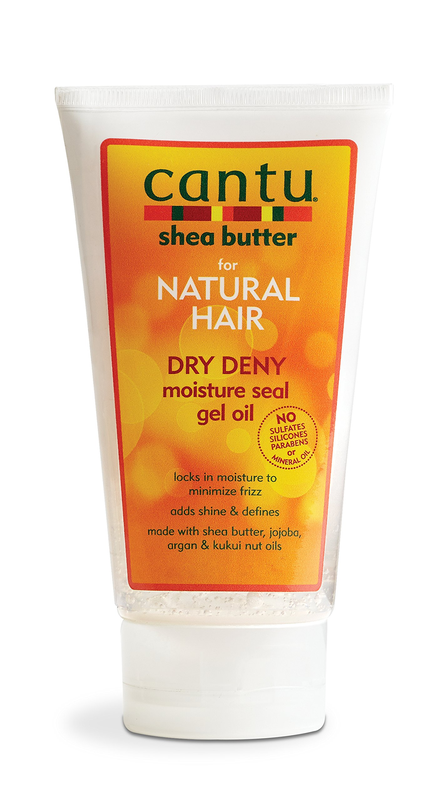 Cantu Shea Butter for Natural Hair Dry Deny Moisture Seal Gel Oil, 5 Ounce (Pack of 6)