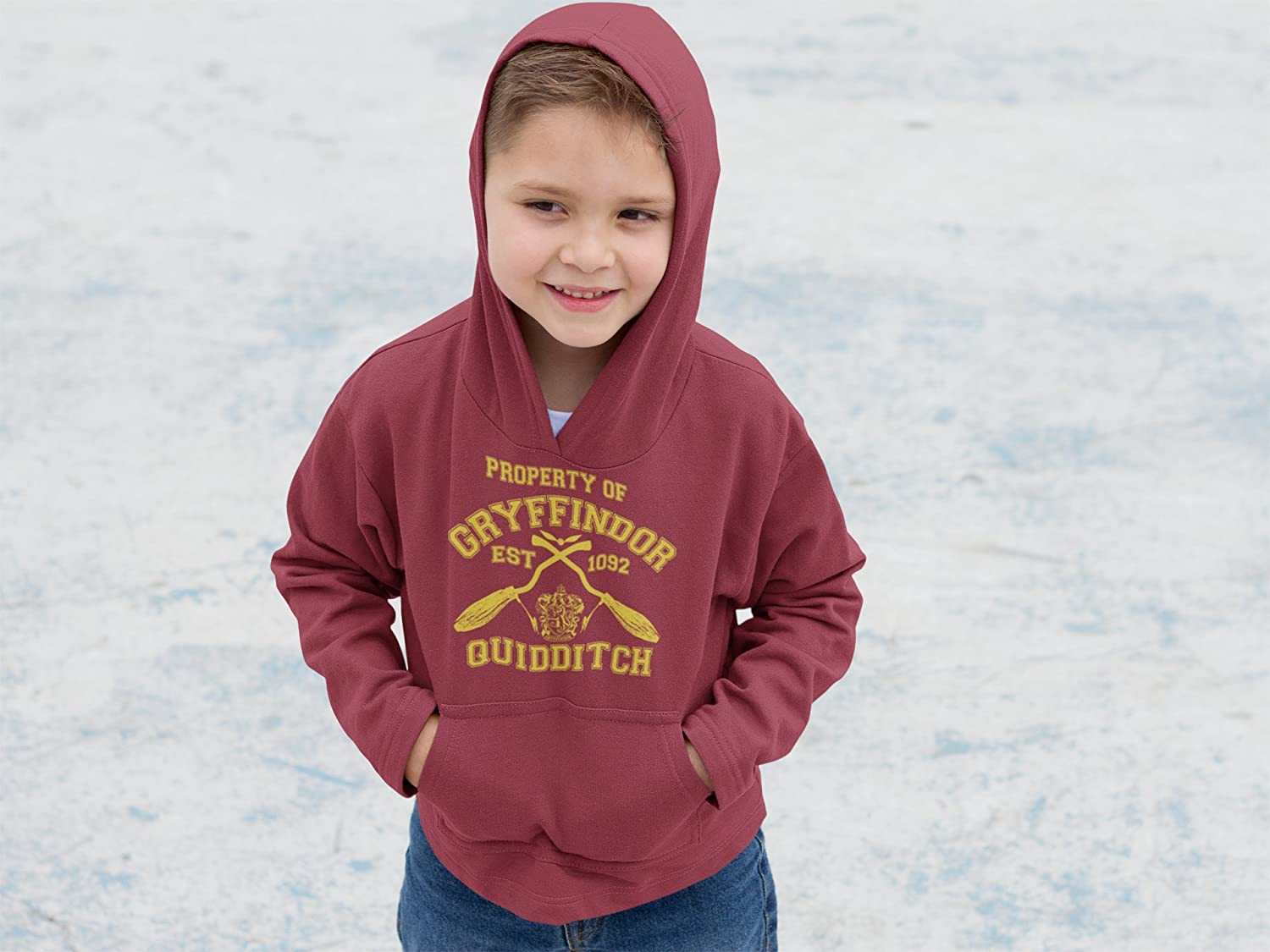 Kids Harry Potter Gryffindor Quidditch Team Hogwarts College Hoodie Children Sizes