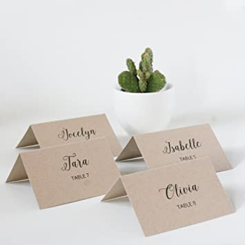 amazon co jp ボンボン紙印刷可能place cards ブラウン ホーム キッチン