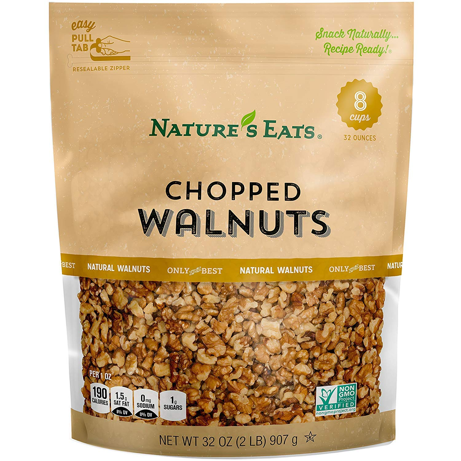 Nature's Eats Chopped Walnuts, 32 Ounce (2 Pack) by Nature's Eats