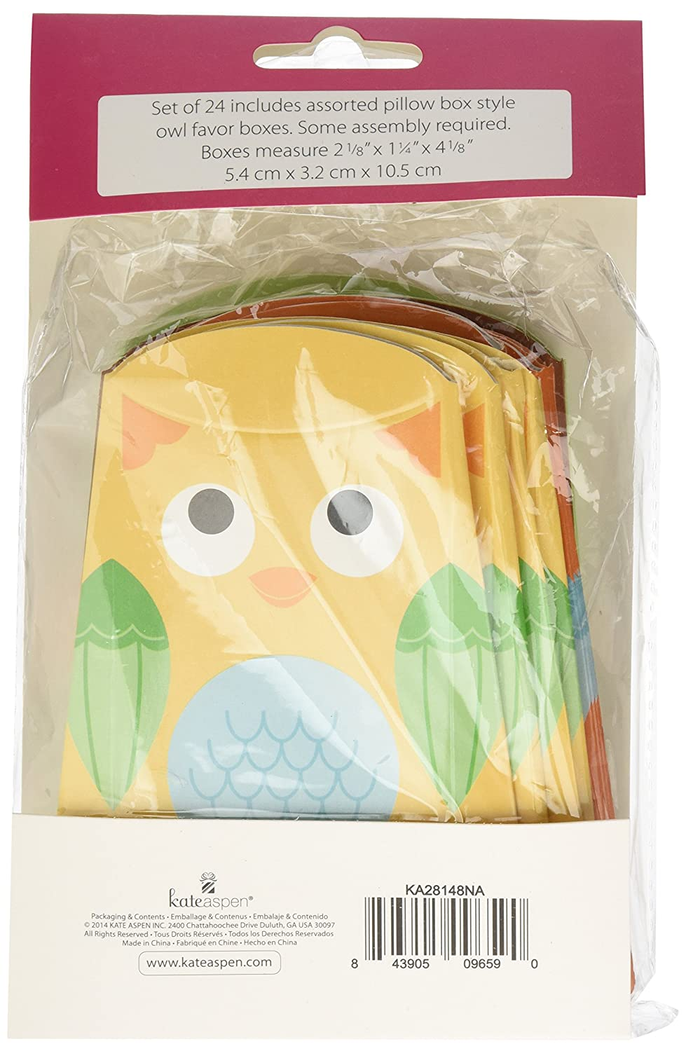 Amazon.com : Kate Aspen Set of 24 Owl Favor Box, Whooos Happy : Baby Gift Sets : Baby