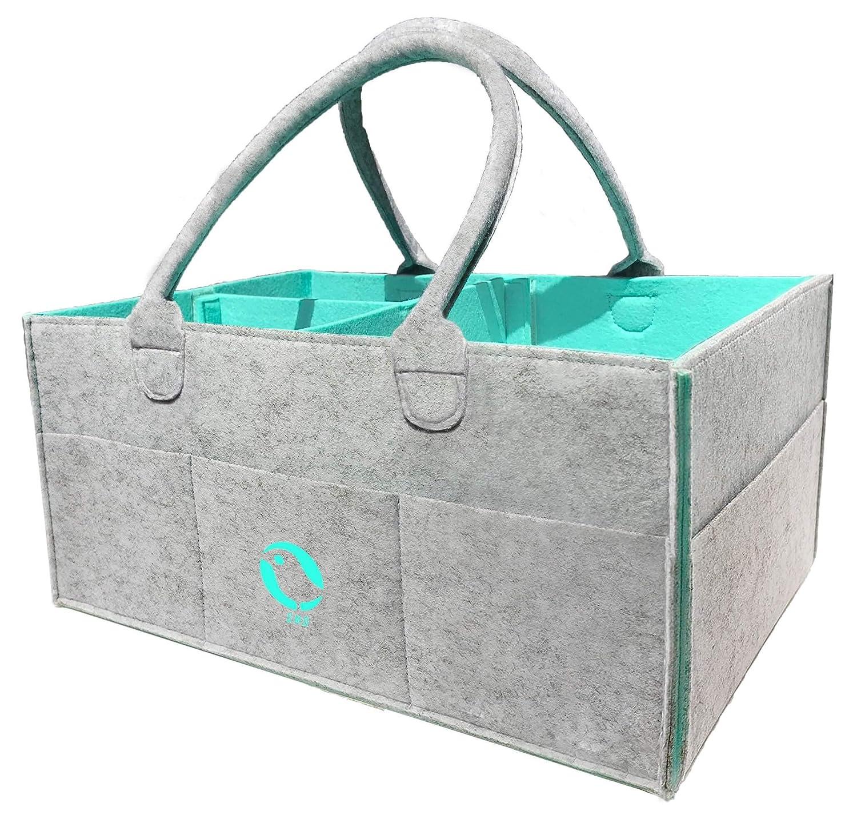 SMO Baby Diaper Caddy Organizer - Nursery Storage Bin for DiapersBaby Wipes Kid Toys Bag| Large Portable Car Travel Organizer | Baby Shower Gift Basket BabyCenter SMO - 002