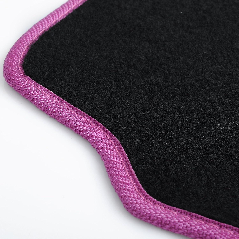 eSituro SCM0080 Tapis de Sol pour Voiture 4 pi/èces Universel Tapis Auto,Bleu+Noir
