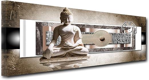 Declina, Cuadro Decorativo de Pared para salón, Lienzo Impreso, Cuadro Decorativo de Pared, decoración de jardín, Zen, Buda, 80 x 30 cm, Lona, 120x50 cm: Amazon.es: Hogar