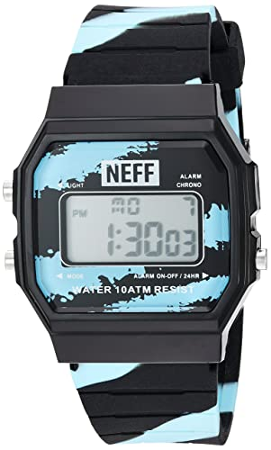 Neff Mens Flava XL Surf Watch Ice Black