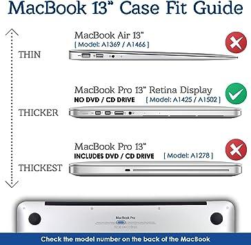 SlickBlue metálico estuche rígido para Apple MacBook Pro 13.3 - pulgadas con Retina Display Modelo: A1425 y A1502 - Oro de Rose: Amazon.es: Informática