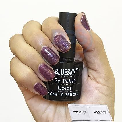 Bluesky Gel esmalte de uñas Color # 174 + 2 libre toallitas Shine Nail Trend –