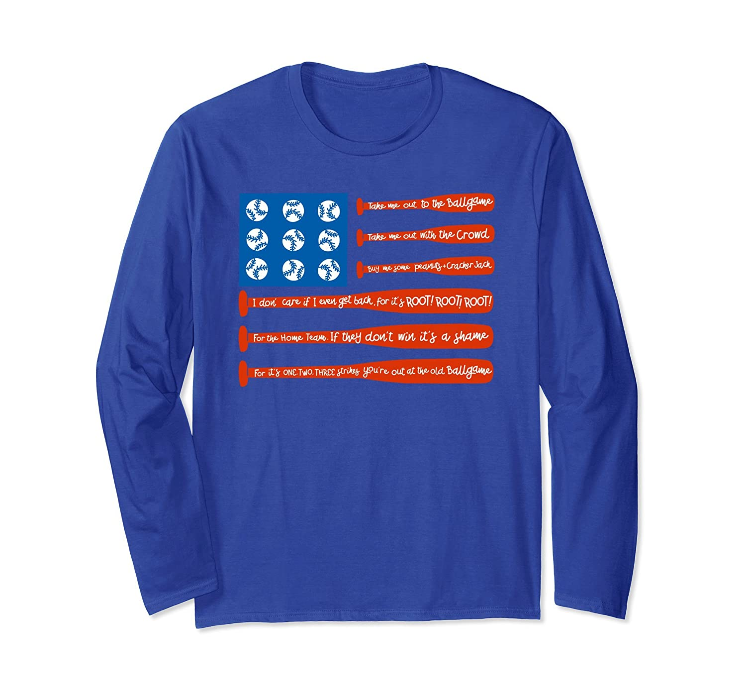 4th of July USA Flag Patriotic Baseball Long Sleeve Shirt-mt