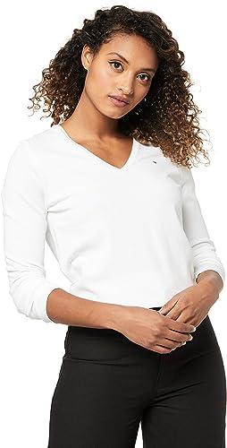 TALLA 40 (Talla fabricante: L). Tommy Hilfiger New Ivy V-nk Swtr Jersey para Mujer