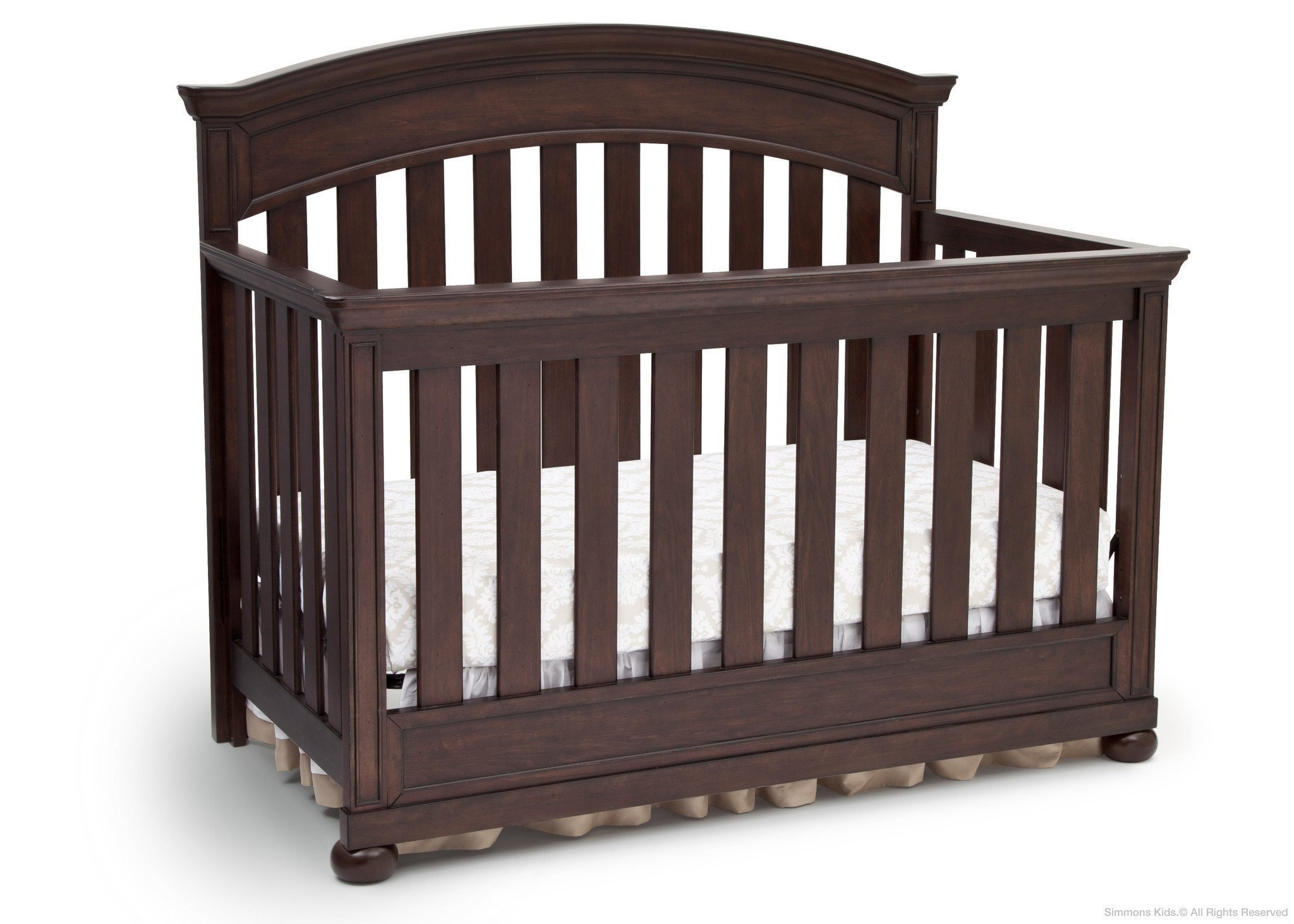 Full Size Conversion Kit Bed Rails for Simmons/Delta Childrens Castille Crib - Vintage Espresso by CC KITS (Image #3)