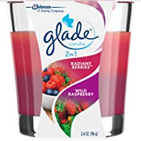 glade 2-In-1 Candle, Radiant Berries and Wild Raspberry, 0.33g, Wild Raspberries (70334)