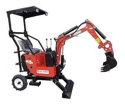 HZC Power BZR520 - Mini excavadora (2 ruedas, motor de gasolina, certificado CE