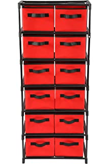 Home Like 12 Drawer Chest Fabric Dresser Of Drawers 6 Tier Storage Organizer