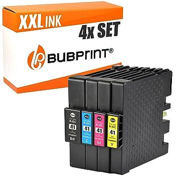 Bubprint 4 Cartuchos de Impresora Compatible con Ricoh gc-41 KL GC41 XXL Set
