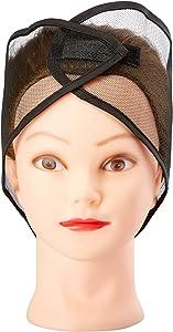 Mesh Head Wrap (Black, 12 Pack)