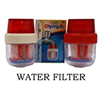 Omatm Plastic Water Tap Candle Filter Cartridge For Dirt Removal From Kitchen And Bathroom Tap, Multicolour(Pack Of 2)