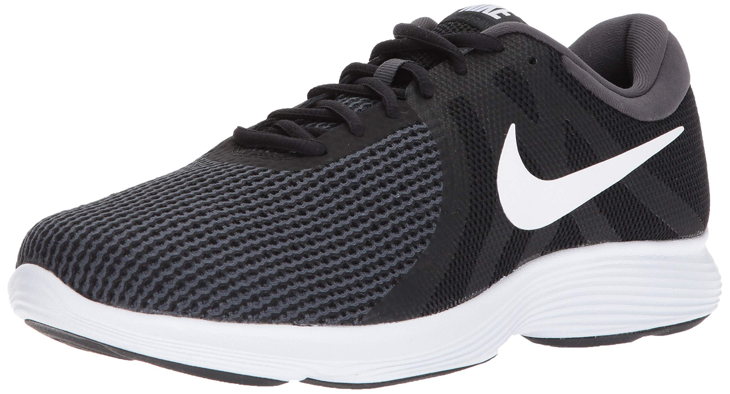 Nike Men's Revolution 4 Running Shoe Black/White - Anthracite 6.5 Wide US by Nike (Image #1)