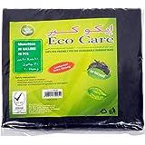 حقيبة القمامة السوداء من ايكو كير - 20 قطعة، 30 جالون، 60 × 90 سم
