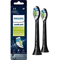 Genuine Philips Sonicare DiamondClean Toothbrush Head, 2 Pack, Black, HX6062/95