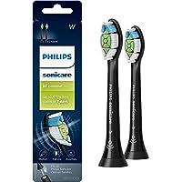 Genuine Philips Sonicare Diamondclean Replacement Toothbrush Heads, HX6062/95, Brushsync Technology, Black 2 pk