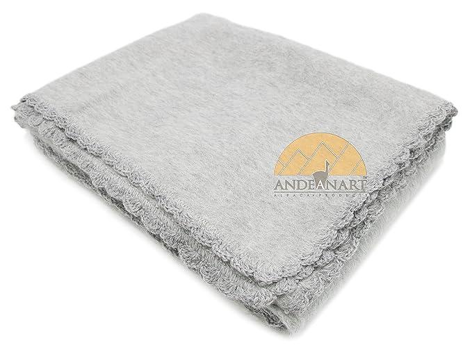 aec4a0bee Alpaca Carrasco Alpaca Blend Baby Blanket - Ash Light Grey - Super Soft  Beautiful Alpaca for