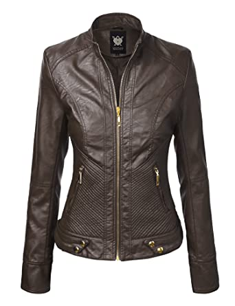 LL Womens Quilted Biker Jacket at Amazon Women's Coats Shop
