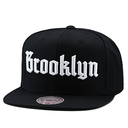 Image Unavailable. Image not available for. Color  Mitchell   Ness   quot Brooklyn quot  Snapback Hat Cap Black White 31ae50df1809