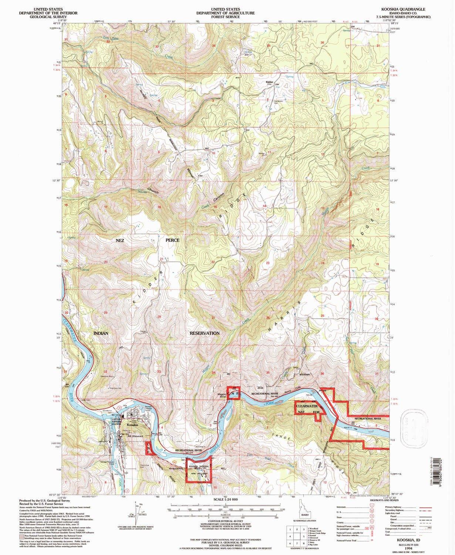 Amazon Com Yellowmaps Kooskia Id Topo Map 1 24000 Scale 7 5 X