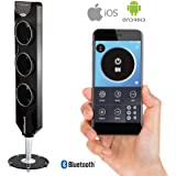 """Ozeri 3X (44""""), Passive Noise Reduction Technology Tower Fan with Bluetooth, Black"""