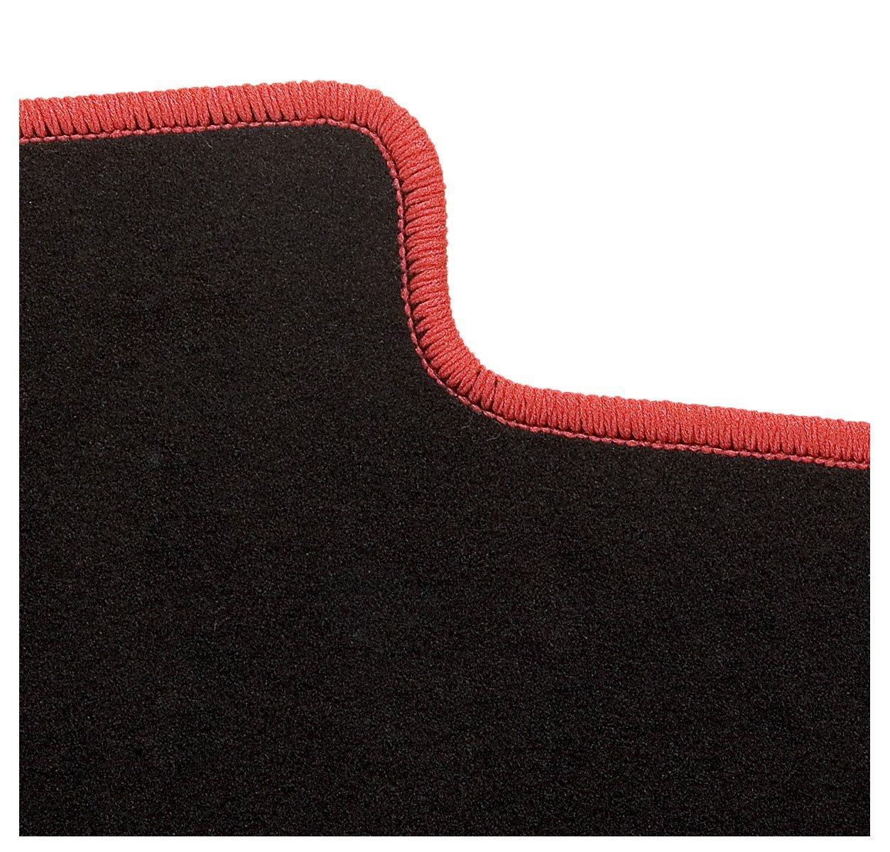 Fussmatte Velours in schwarz anthrazit Passform Auto Fussmatten 4 teiliges Auto Fussmatten Set mit Mattenhalter CarFashion 230120 ExquiPlus Schwarze Hochglanz Kettelung