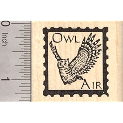 Owl Air Faux Post Rubber Stamp: Arts, Crafts & Sewing