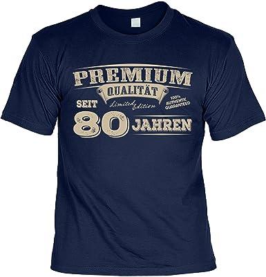 Lustige Spruche Fun Tshirt Premium Qualitat Seit 80 Jahren