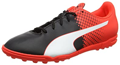 Puma Men's Evospeed 5.5 Tt Puma Black, Puma White and Red Blast Football  Boots -