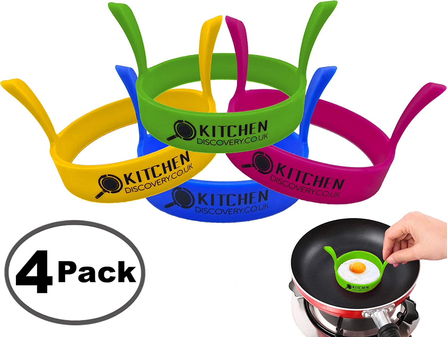 Egg Rings Non Stick Silicone for Cooking